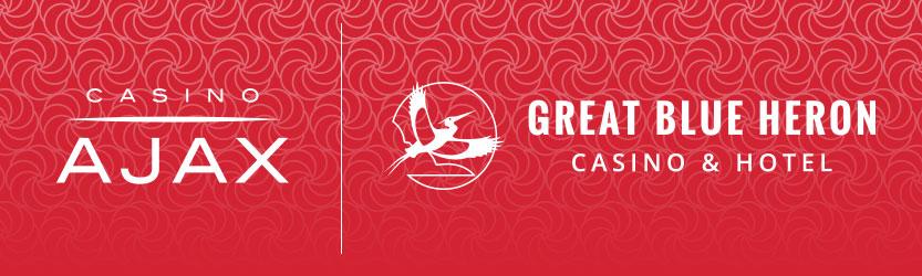 Casino Ajax & Great Blue Heron Casino and Hotel Logos