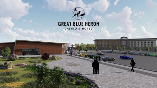 Great Blue Heron Casino Entrance Rendering